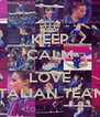 KEEP CALM AND LOVE ITALIAN TEAM - Personalised Poster A4 size