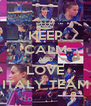 KEEP CALM AND LOVE ITALY TEAM - Personalised Poster A4 size