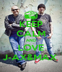 KEEP CALM AND LOVE J-AX&MAX  - Personalised Poster A4 size