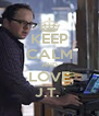 KEEP CALM AND LOVE J.T.  - Personalised Poster A4 size