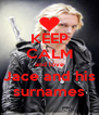 KEEP CALM and love Jace and his surnames - Personalised Poster A4 size