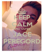 KEEP CALM AND LOVE JACE PEREGORD - Personalised Poster A4 size