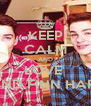 KEEP CALM AND LOVE  JACK AND FINN HARRIES <3 - Personalised Poster A4 size