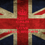 KEEP CALM AND LOVE JACK BROWN - Personalised Poster A4 size