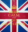 KEEP CALM AND LOVE  JACK STOCK  - Personalised Poster A4 size