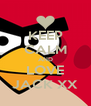 KEEP CALM AND LOVE JACK XX - Personalised Poster A4 size