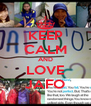 KEEP CALM AND LOVE JAFO - Personalised Poster A4 size
