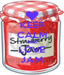 KEEP CALM AND LOVE JAM - Personalised Poster A4 size