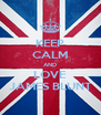 KEEP CALM AND LOVE JAMES BLUNT - Personalised Poster A4 size