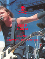 KEEP CALM AND LOVE JAMES HETFIELD - Personalised Poster A4 size