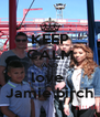 KEEP CALM AND love  Jamie birch - Personalised Poster A4 size