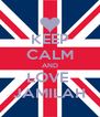 KEEP CALM AND LOVE  JAMILAH - Personalised Poster A4 size