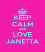 KEEP CALM AND LOVE JANETTA - Personalised Poster A4 size