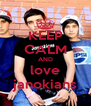 KEEP CALM AND love janokians - Personalised Poster A4 size