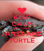 KEEP CALM AND LOVE  JANSZ AND TURTLE - Personalised Poster A4 size
