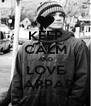 KEEP CALM AND LOVE JARPAD - Personalised Poster A4 size