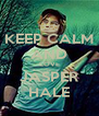 KEEP CALM AND LOVE JASPER HALE - Personalised Poster A4 size