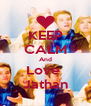 KEEP CALM And Love  Jathan - Personalised Poster A4 size