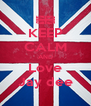 KEEP CALM AND Love Jay dee - Personalised Poster A4 size