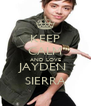 KEEP CALM AND LOVE JAYDEN  SIERRA - Personalised Poster A4 size