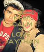 KEEP CALM AND LOVE  JAYTHAN - Personalised Poster A4 size