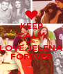 KEEP CALM AND LOVE JELENA FOREVER - Personalised Poster A4 size