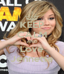 KEEP CALM AND Love Jennette - Personalised Poster A4 size