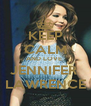 KEEP CALM AND LOVE  JENNIFER  LAWRENCE - Personalised Poster A4 size