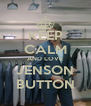 KEEP CALM AND LOVE JENSON BUTTON - Personalised Poster A4 size