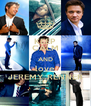 KEEP CALM AND love JEREMY RENNER - Personalised Poster A4 size