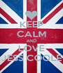 KEEP CALM AND LOVE JESS COOLE - Personalised Poster A4 size