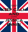 KEEP CALM AND LOVE JESSICA ENNIS! - Personalised Poster A4 size