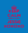 KEEP CALM AND LOVE JESSIE XOXOXO - Personalised Poster A4 size
