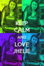 KEEP CALM AND LOVE JHELIE - Personalised Poster A4 size