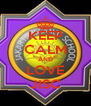 KEEP CALM AND LOVE JISC - Personalised Poster A4 size
