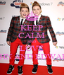 KEEP CALM AND LOVE JOHN AND EDWARD - Personalised Poster A4 size