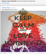 KEEP CALM AND LOVE JOHNNY D. - Personalised Poster A4 size