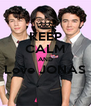 KEEP CALM AND Love JONAS  - Personalised Poster A4 size