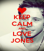 KEEP CALM AND LOVE JONES - Personalised Poster A4 size