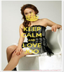 KEEP CALM AND LOVE JOO - Personalised Poster A4 size