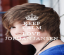 KEEP CALM AND LOVE JORDAN JANSEN - Personalised Poster A4 size