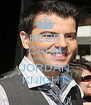 KEEP CALM AND LOVE JORDAN KNIGHT - Personalised Poster A4 size