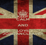KEEP CALM AND LOVE JORDANCLEAVER - Personalised Poster A4 size