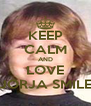 KEEP CALM AND LOVE JORJA SMILE - Personalised Poster A4 size