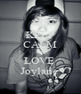 KEEP CALM AND LOVE  Joylane  - Personalised Poster A4 size