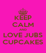 KEEP CALM AND LOVE JUBS CUPCAKES - Personalised Poster A4 size