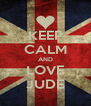 KEEP CALM AND LOVE JUDE - Personalised Poster A4 size