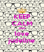 KEEP CALM AND love judeline - Personalised Poster A4 size