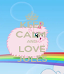 KEEP CALM  AND LOVE JULES - Personalised Poster A4 size