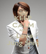 KEEP CALM AND   Love Jung Shin - Personalised Poster A4 size